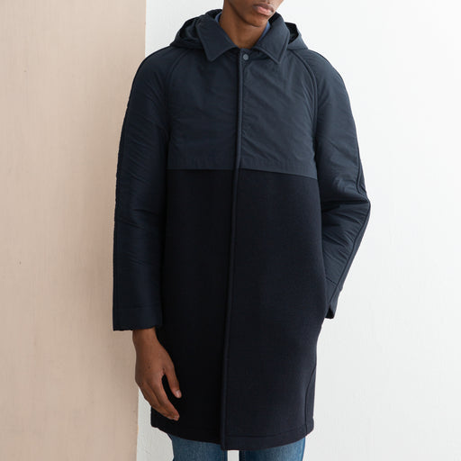 Les Basics X Gloverall L'Overcoat in Navy