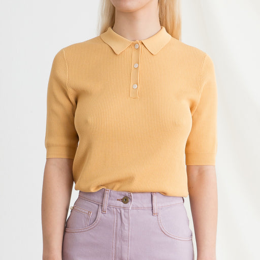 Norse Projects Maj Polo in Corn Yellow