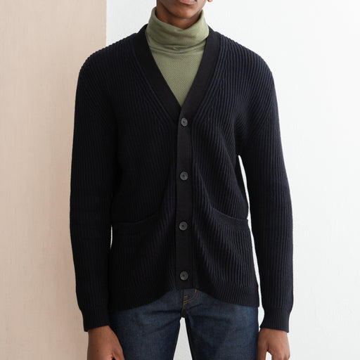 Saturdays NYC Stefan Cardigan in Midnight/Black