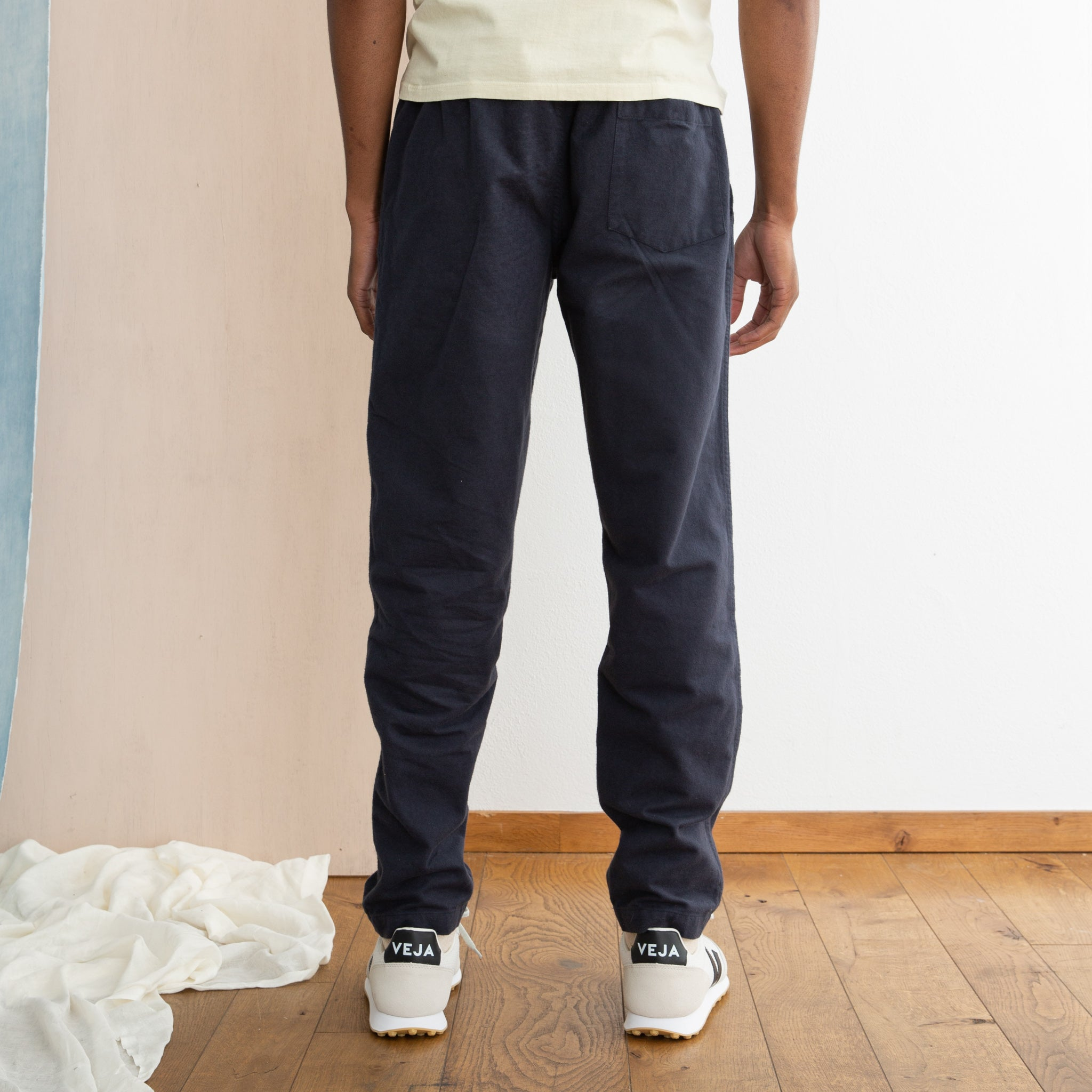 Portuguese Flannel Chemy Trousers in Blue