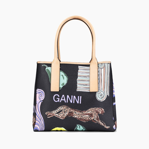 Ganni Tote Bag in Coated Canvas