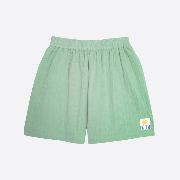 LF Markey Basic Linen Shorts in Jade
