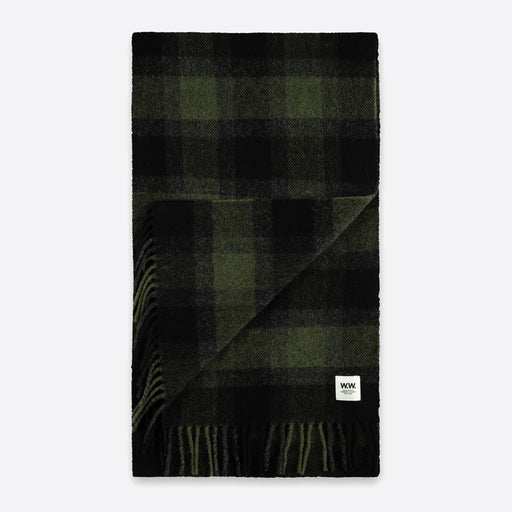 Wood Wood Karlo Scarf in Green Check
