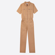 LF Markey Short Sleeve Danny Boilersuit in Oatmeal