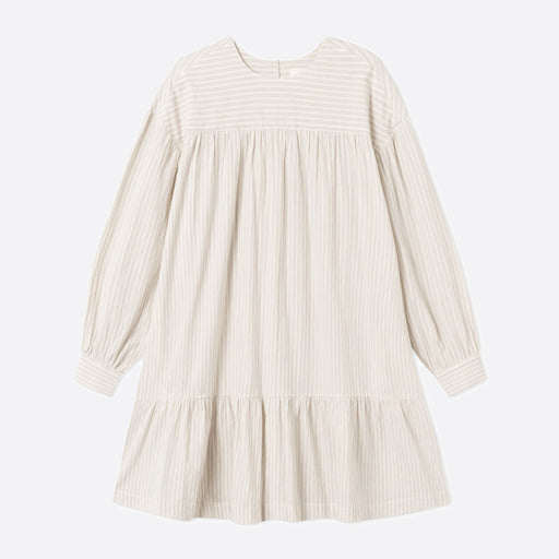 Wood Wood Dina Dress in Off-White Stripes