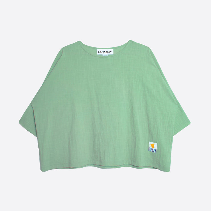 LF Markey Basic Linen Top in Jade