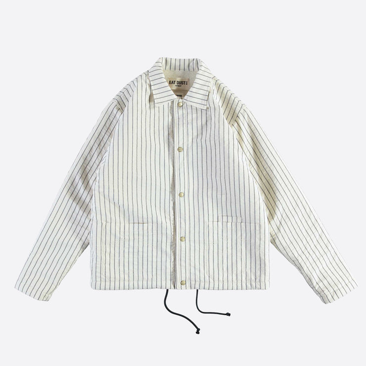 Eat Dust Malibu Ball Park Cotton Jacket in White