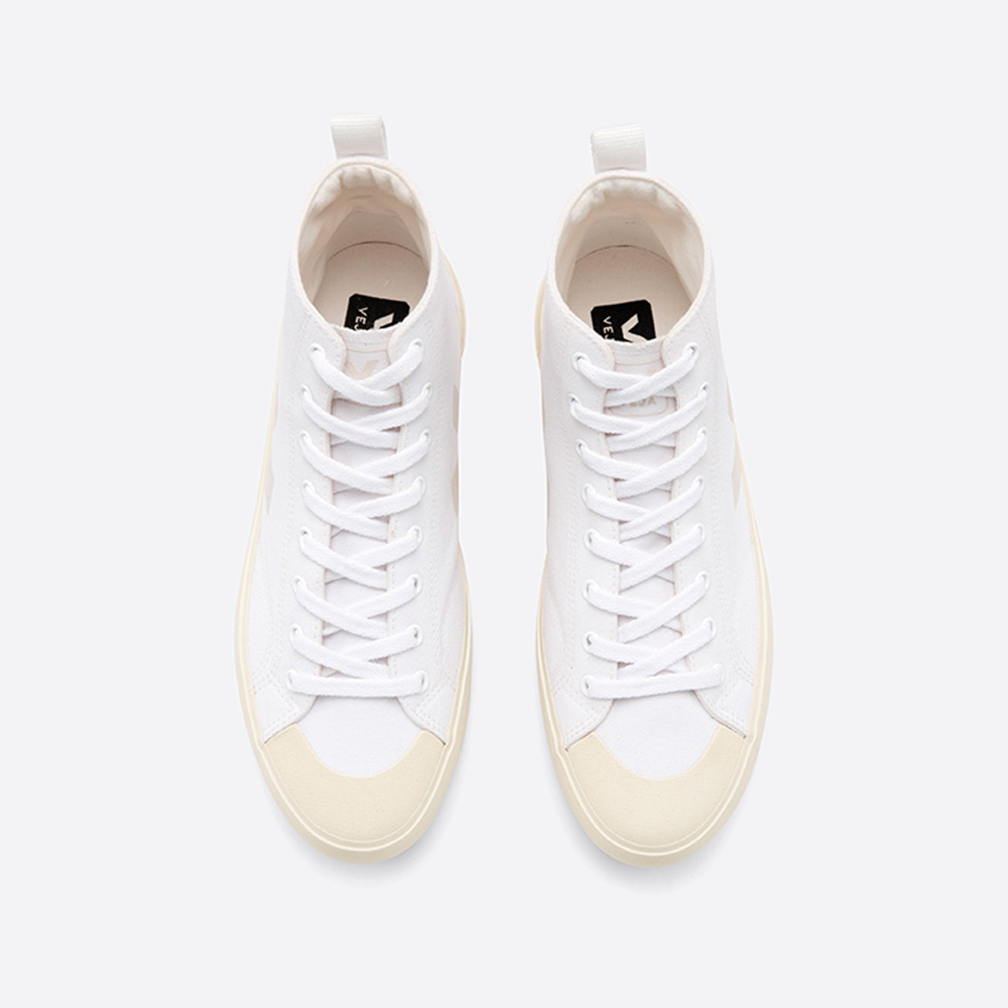 Veja Nova High Top Canvas in White Butter-Sole