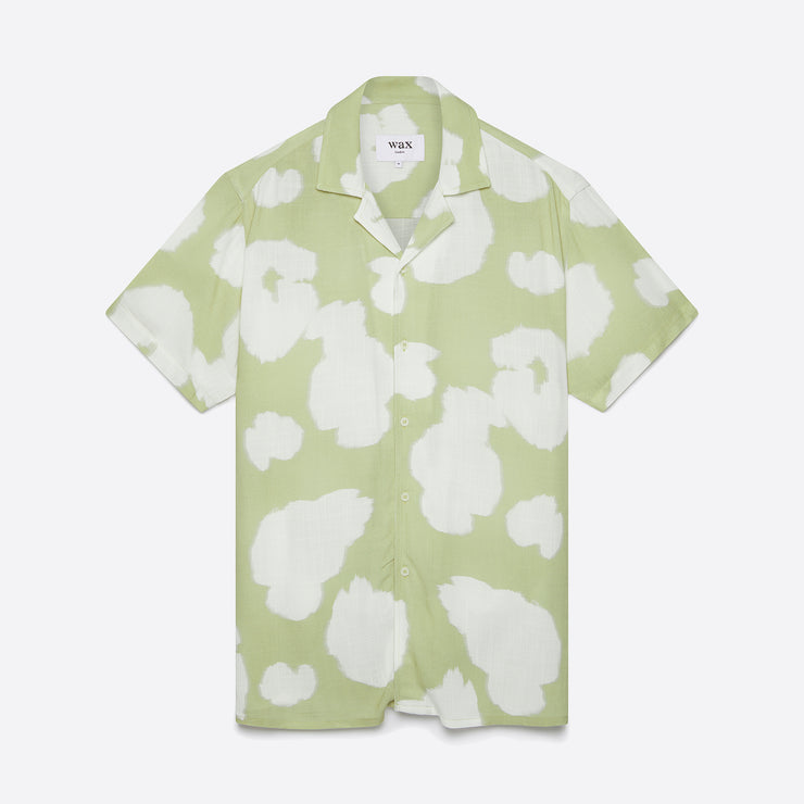 Wax London Didcot Shirt in Sage Poppy