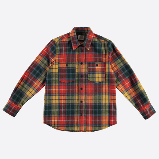Girls of Dust CPO Shirt in Red Scottish Wool