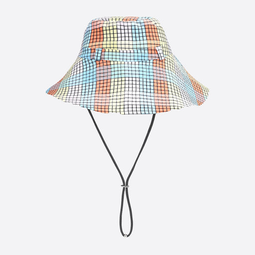 Ganni Seersucker Check Bucket Hat in Multicolour