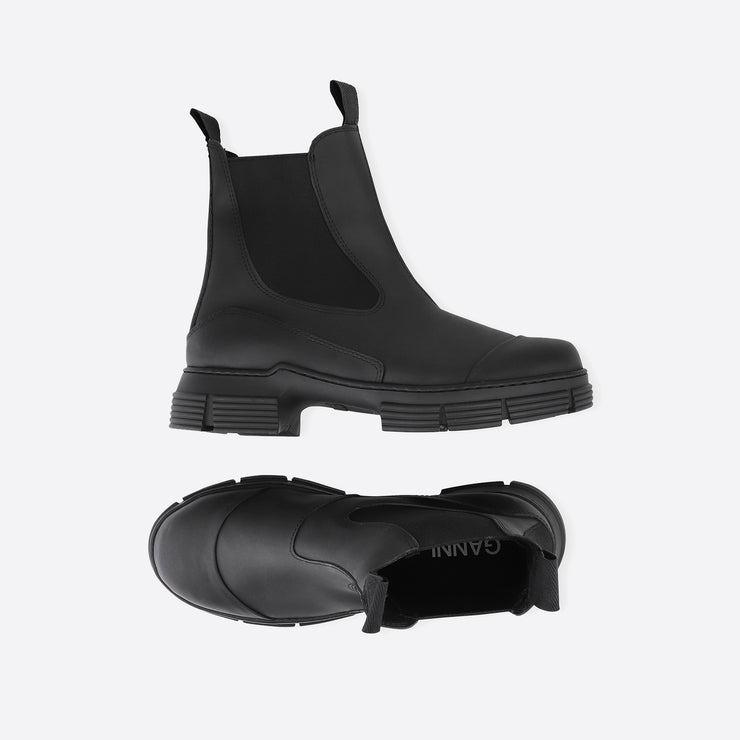 Ganni Recycled Rubber City Boots in Black