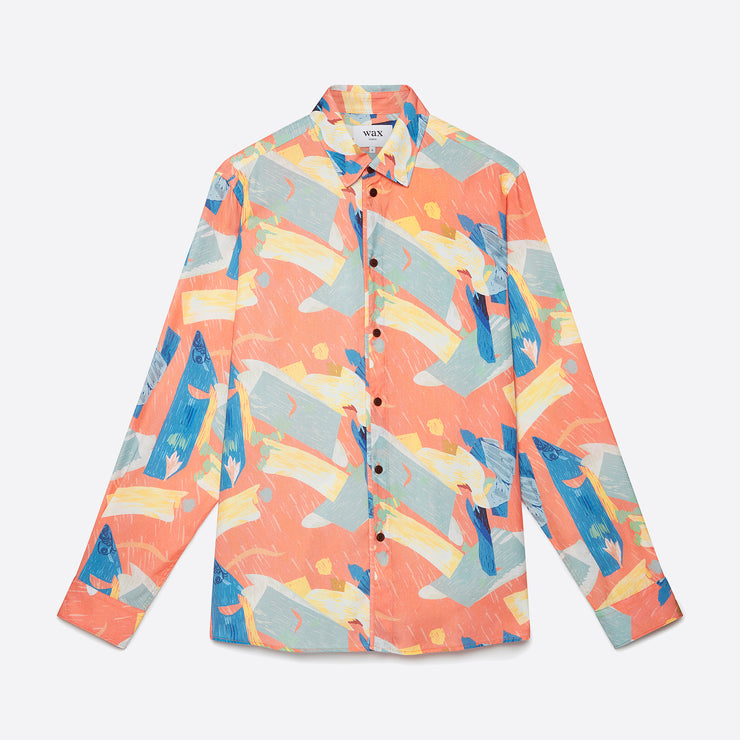 Wax London Kramer Shirt in Pete Hugg Print
