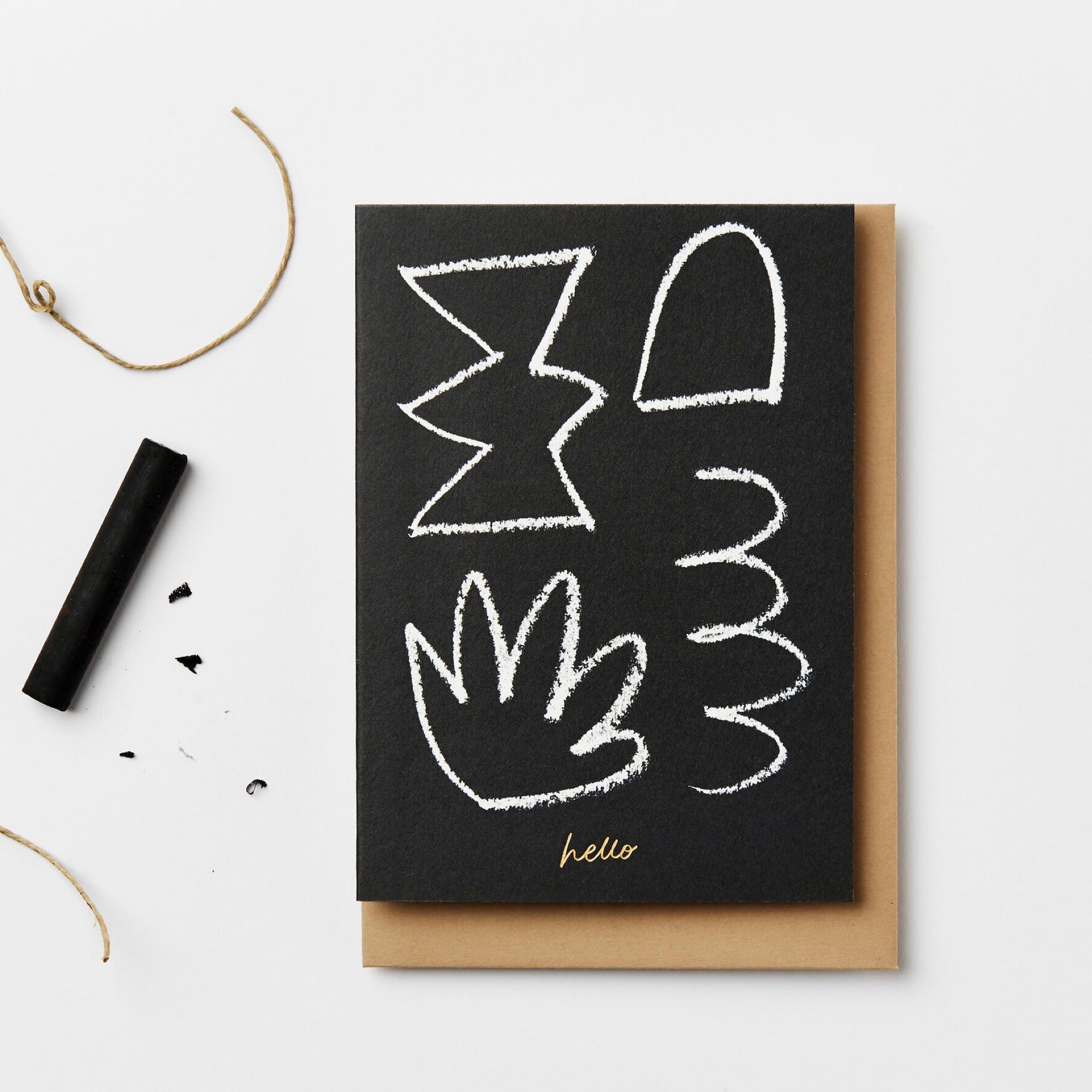Kinshipped x AEAND 'Hello' Card in Black