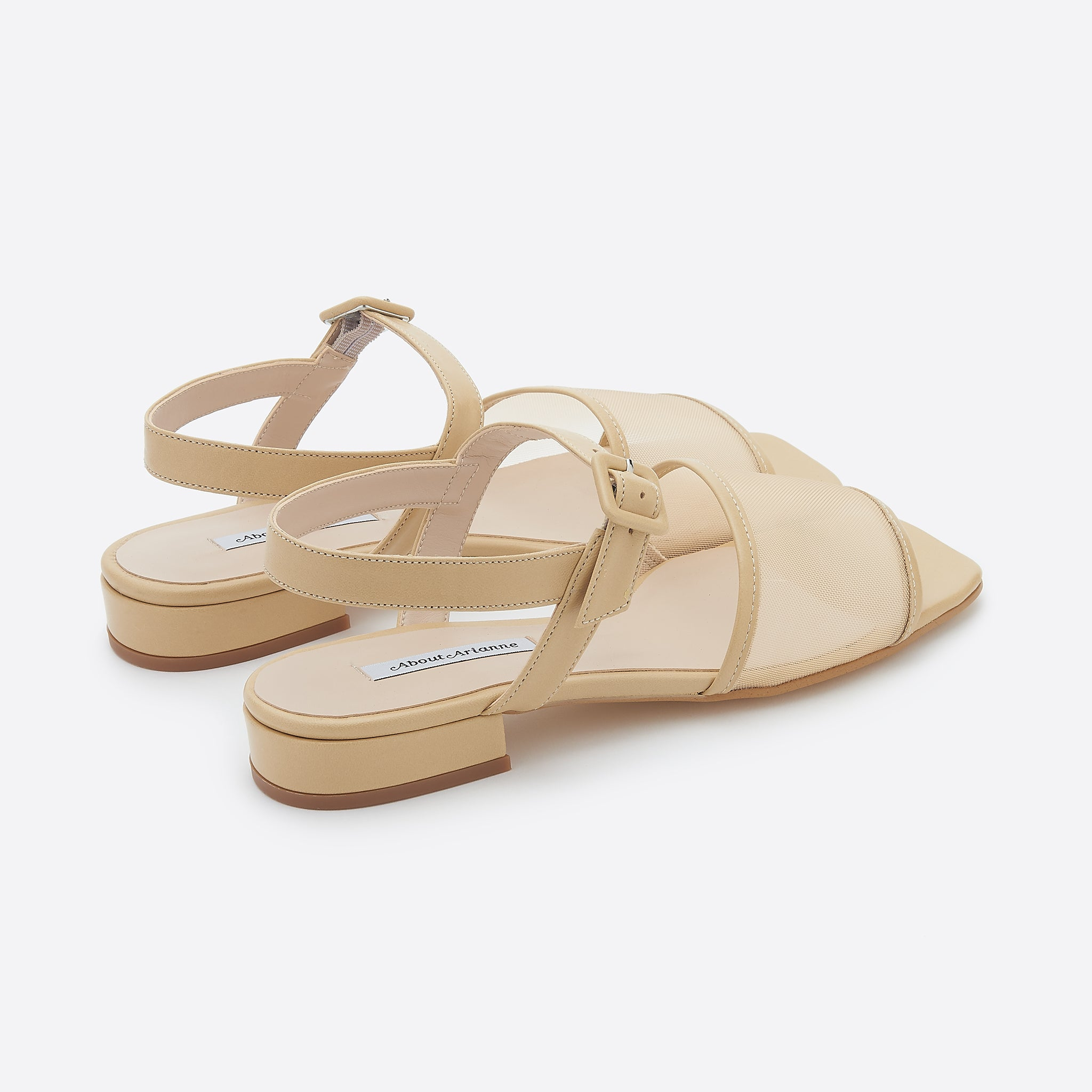 About Arianne Marini Mesh Sandal in Beige