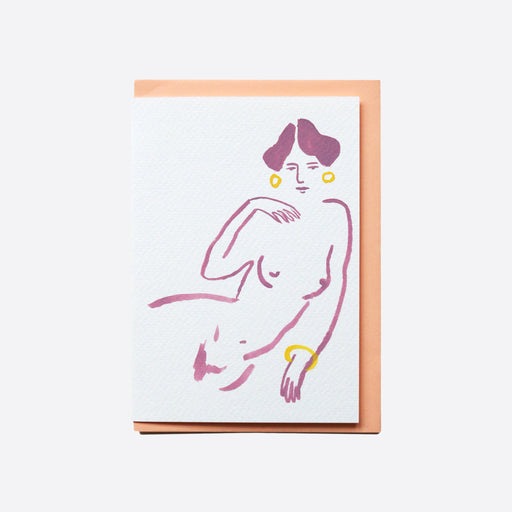 Beau Gervais Card - Reclining Lilac Lady