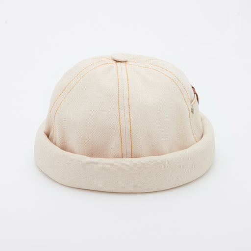 2791e4b1e97de0 Beton Cire Workwear Miki Hat in Cream Denim