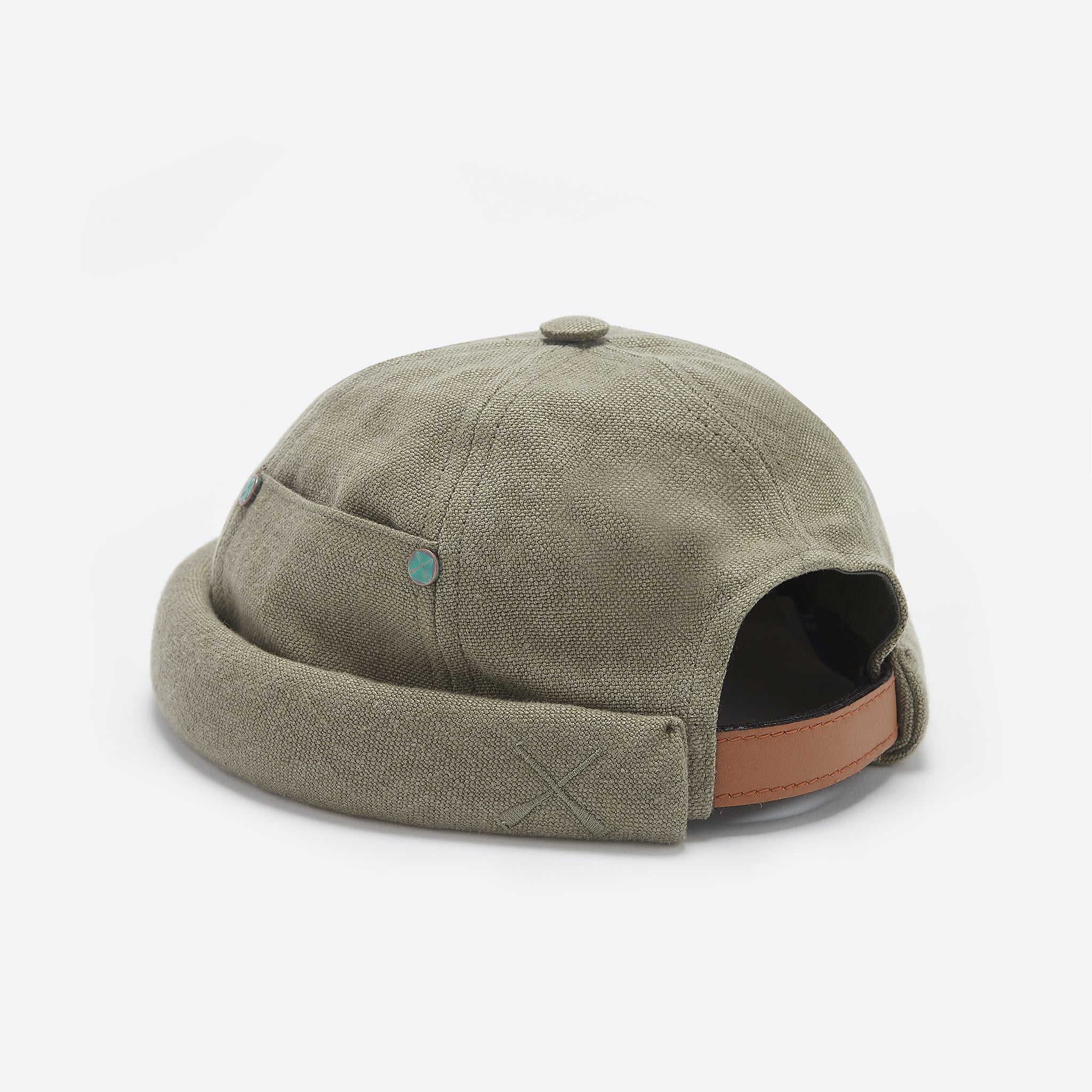 Beton Cire Miki Hat in Khaki Linen — Our Daily Edit 2fd4137bcaaf
