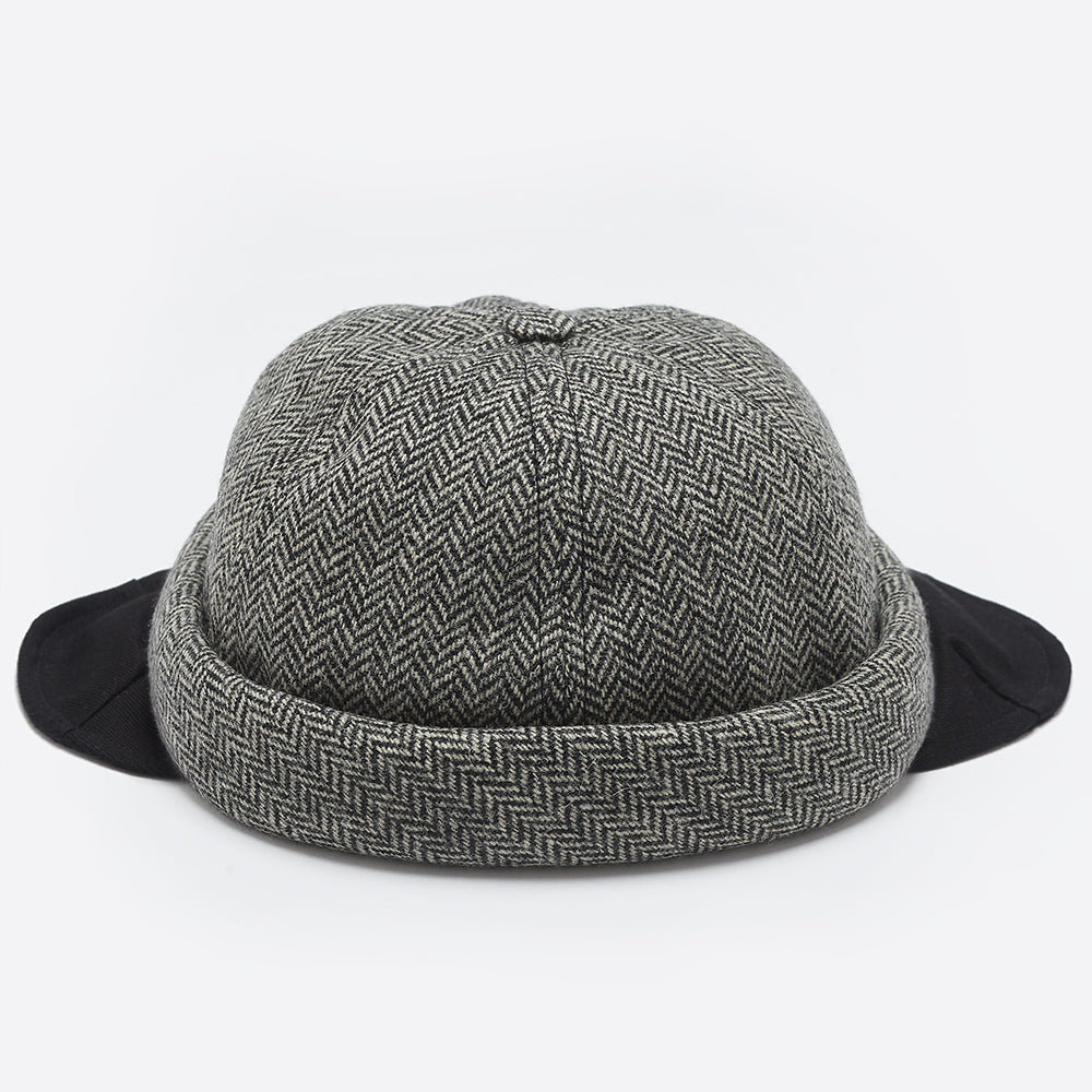 Beton Cire Chevron Flap Ears Miki Hat