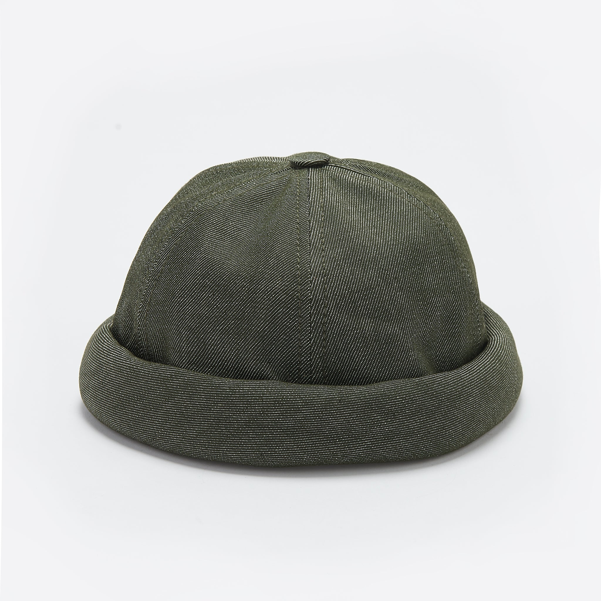 Beton Cire Miki Hat in Khaki Denim