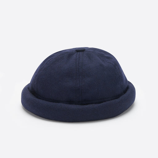 Béton Ciré Miki Hat in Navy Wool