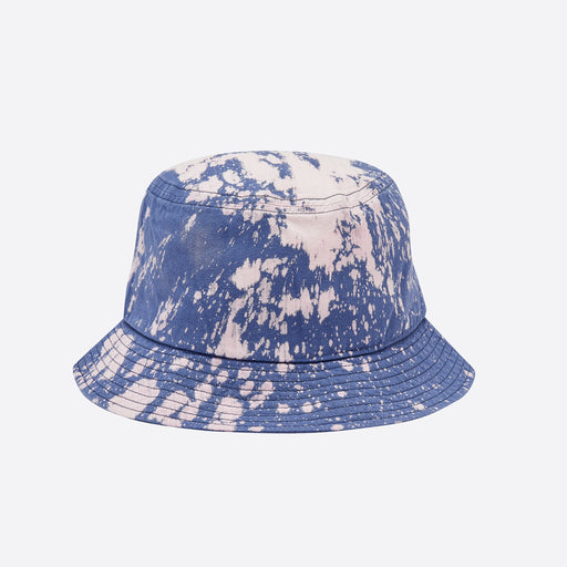 Câbleami Bleached Herringbone Bucket Hat in Blue