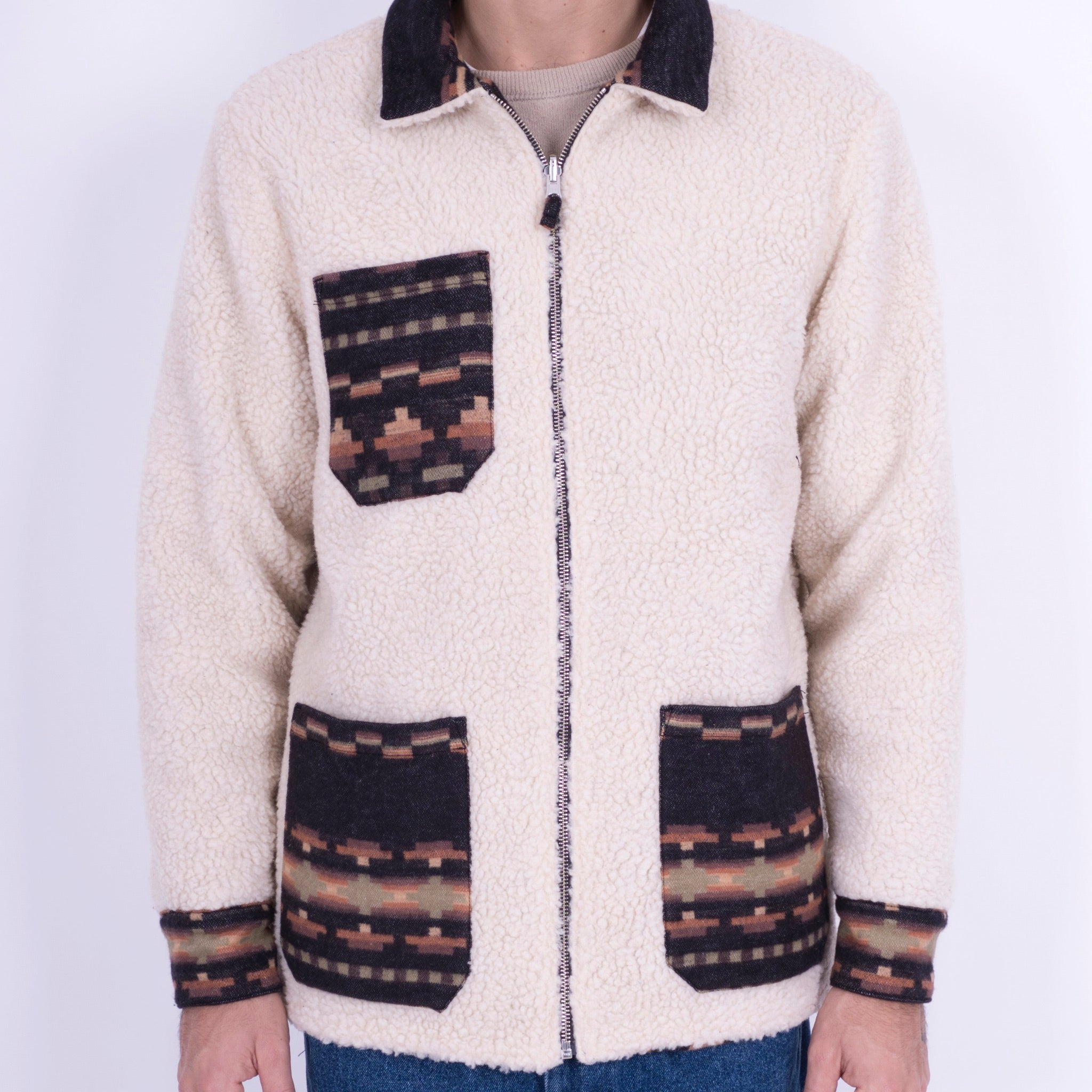 Portuguese Flannel Reversible Sherpa in Native