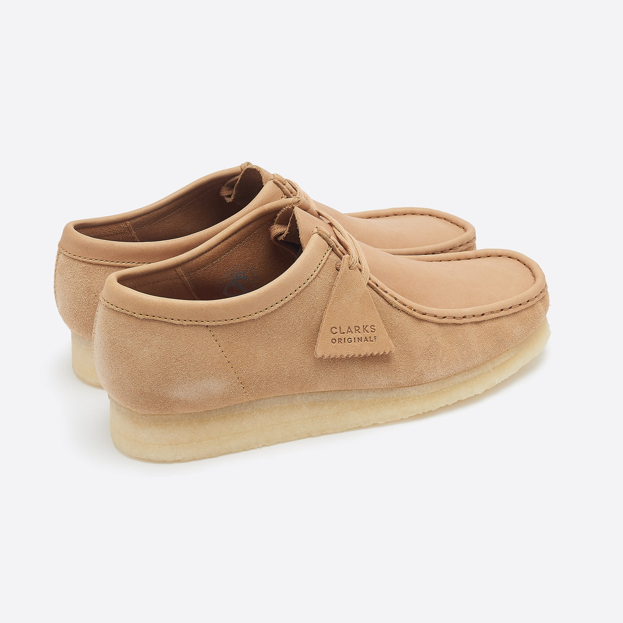 Clarks Originals Wallabee in Light Tan Combination
