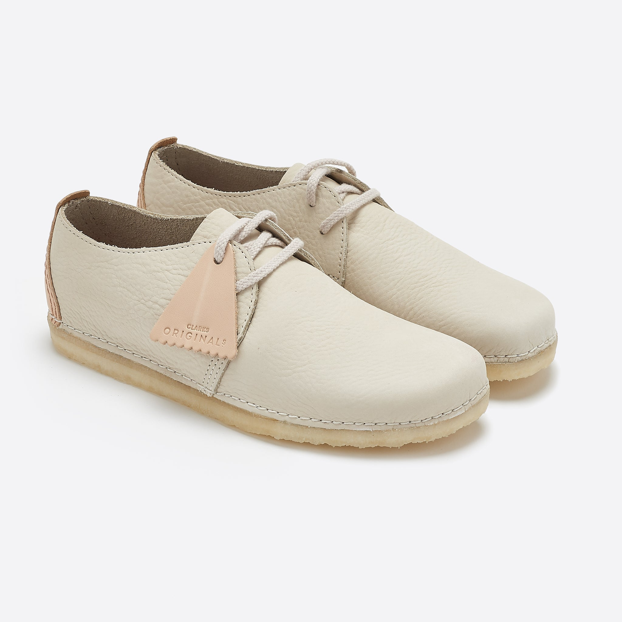 Clarks Original Ashton Boot in Off White Nubuck
