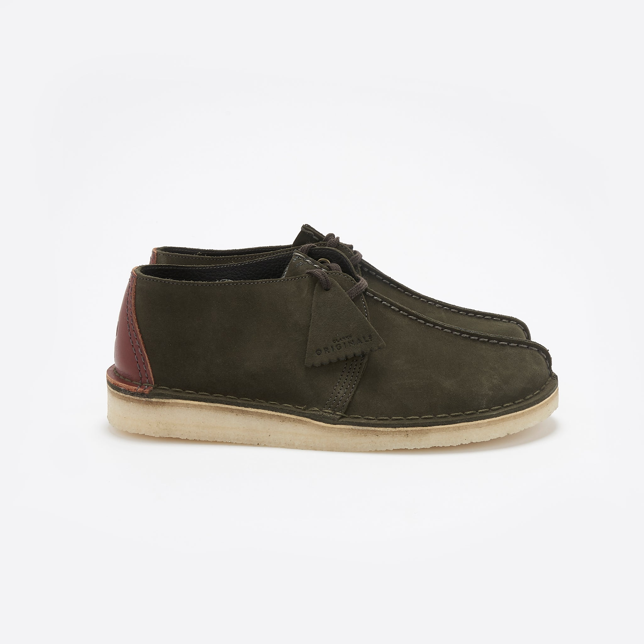Clarks Originals Desert Trek in Dark Green Suede