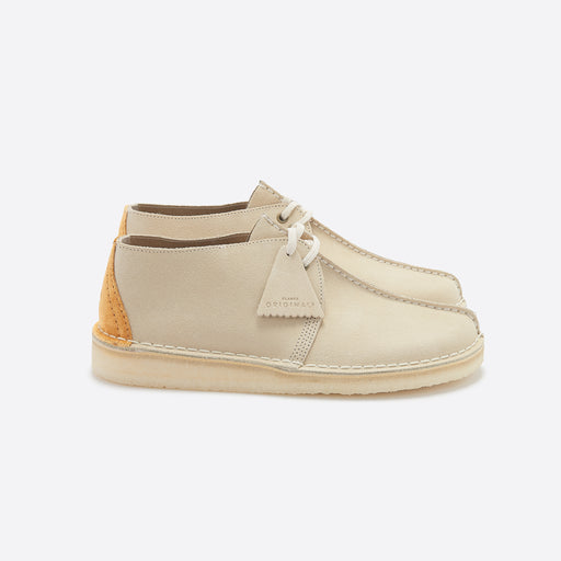 Clarks Original Desert Trek in Off White Suede