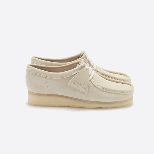 Clarks Originals Wallabee in Off White Suede