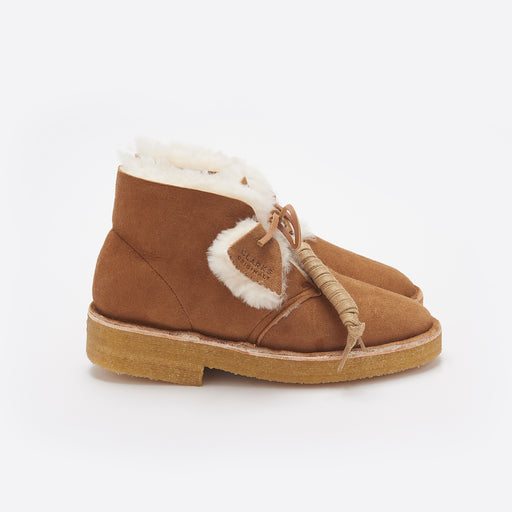 Clarks Originals Desert Boot in Warm Lined Cola
