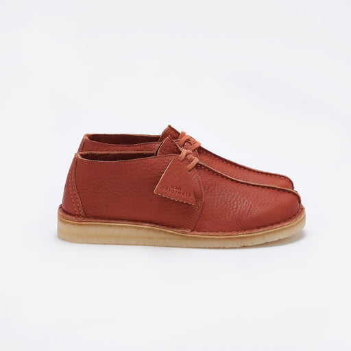 Clarks Original Desert Trek In Burnt Orange Leather