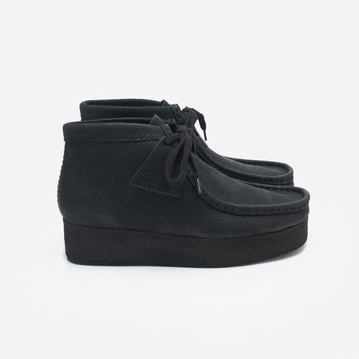 Clarks Originals Wallabee Wedge in Black Nubuck