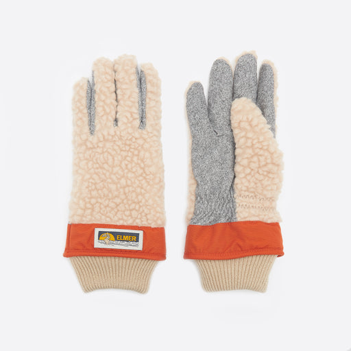 Elmer by Swany Wool Pile Finger Gloves in Beige