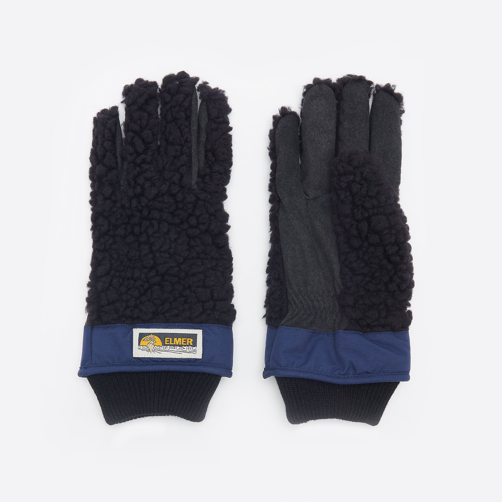 Elmer by Swany Wool Pile Finger Gloves in Black