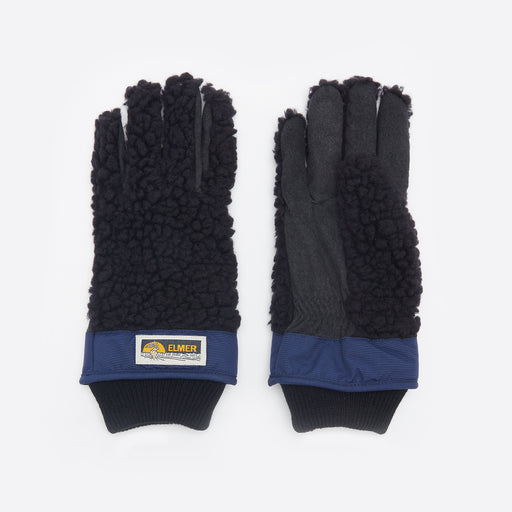 Elmer by Swany Wool Pile Finher Gloves in Black