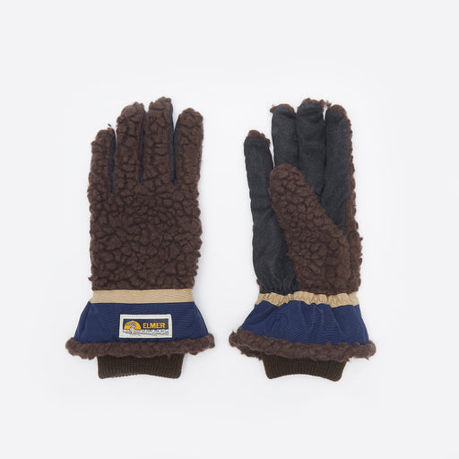 Elmer by Swany Wool Pile Finger Gloves in Brown