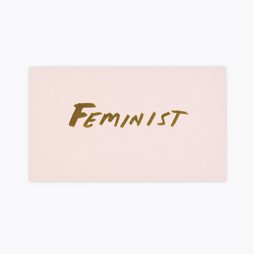 Terrapin Stationers x Samantha Hahn Calling Card - Feminist