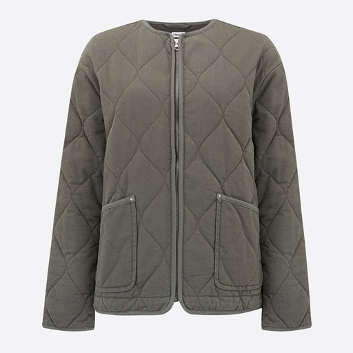 Filippa K Quilted Jacket in Khaki