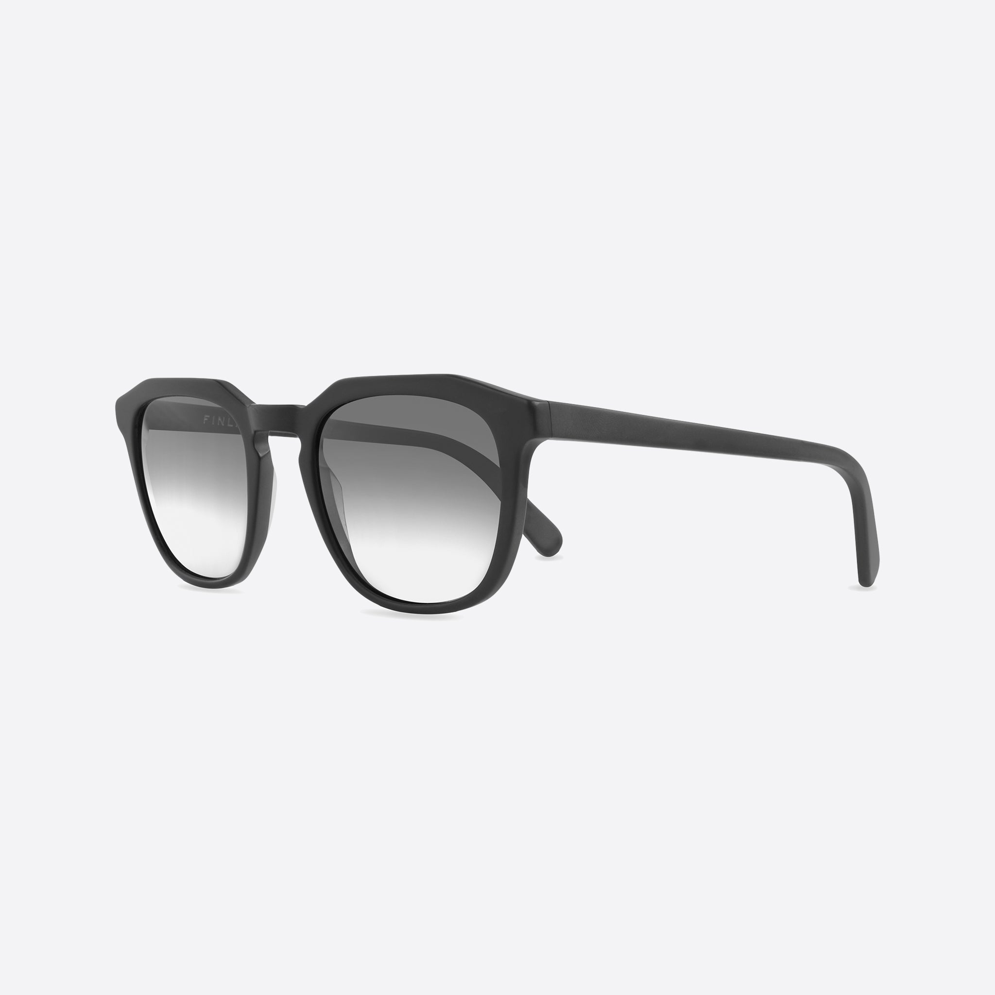 FINLAY London Marshall Matte Black with Grey to White Lenses