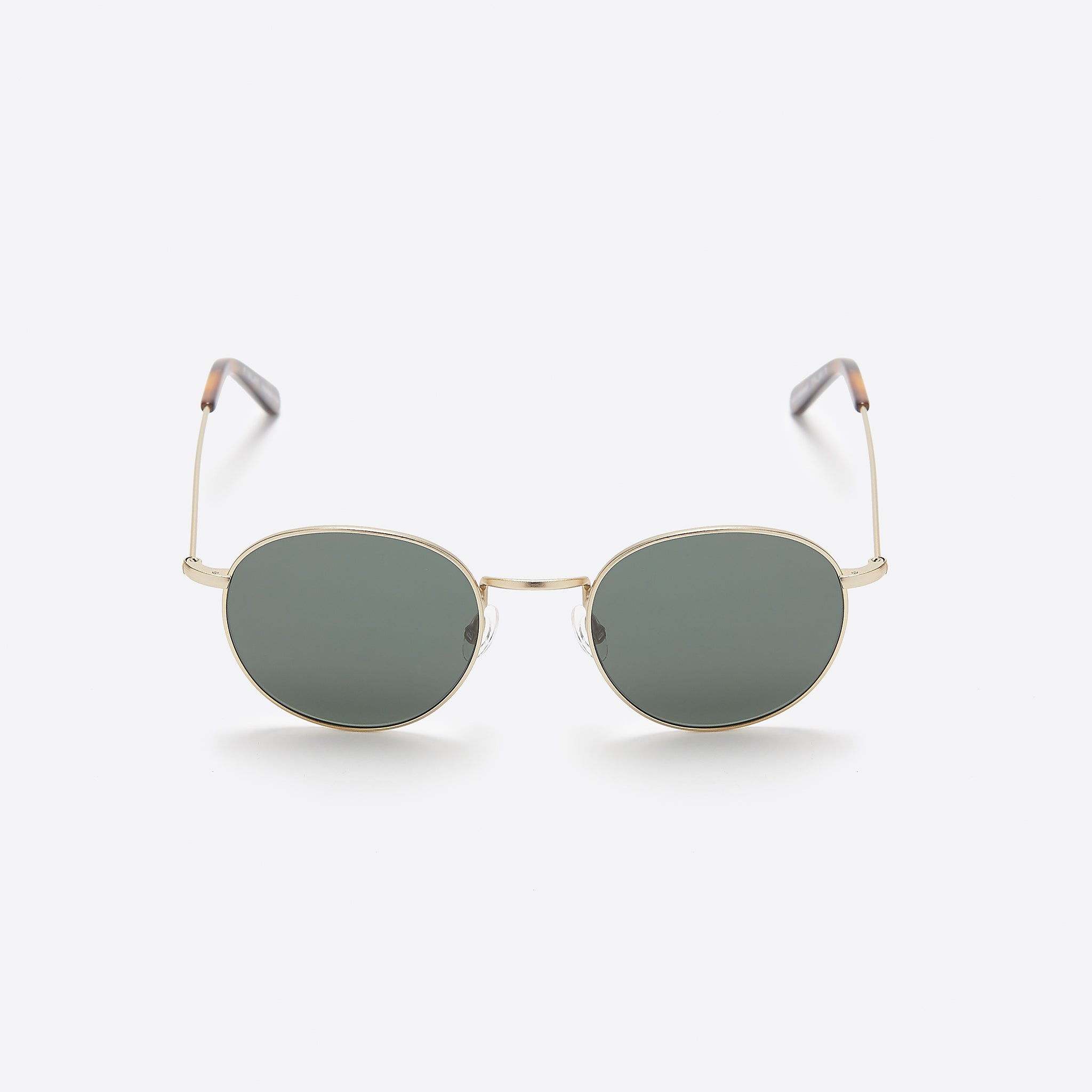 FINLAY London Oswald Sunglasses in Gold and Tortoise with Green Lenses