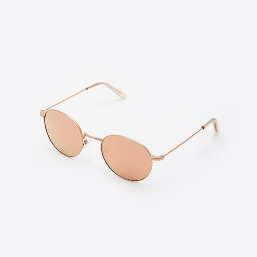 Finlay & Co Oswald Sunglasses in Rose Gold Mirror