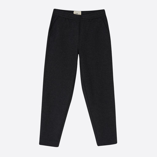 Folk Drawcord Signal Pant in Charcoal Wool Twill