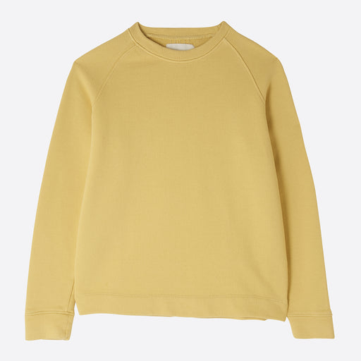 Folk Multi Stitch Sweat in Light Gold