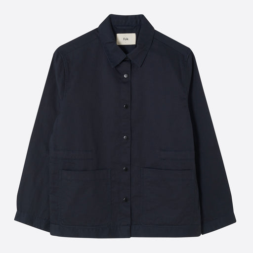 Folk Painters Jacket in Navy Twill