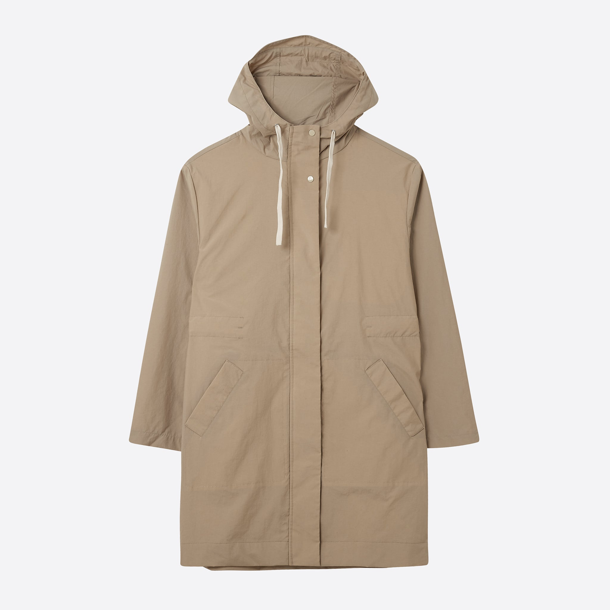Folk Shell Parka in Stone