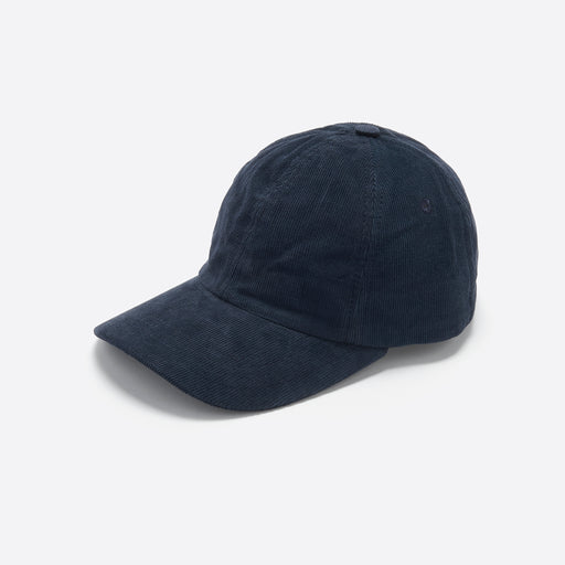 Folk Six Panel Cap in Charcoal Cord