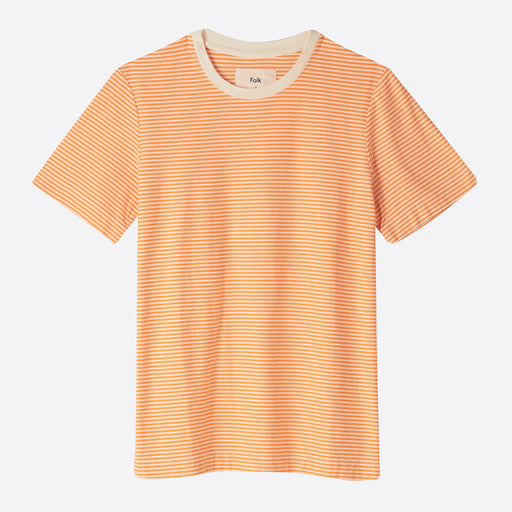 Folk Stripe Tee in Marigold / Ecru